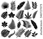 set of leaves. vector | Shutterstock .eps vector #540727075