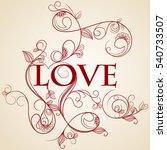 invitation card with heart | Shutterstock .eps vector #540733507