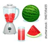 the fresh watermelon cut on... | Shutterstock .eps vector #540735655
