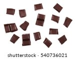 chocolate bars isolated on... | Shutterstock . vector #540736021