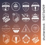 set of  badges and logos of... | Shutterstock . vector #540736909