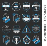 set of  badges and logos of... | Shutterstock . vector #540736939