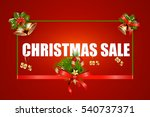 christmas sale text  design...   Shutterstock . vector #540737371