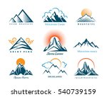 mountain logo set. vector... | Shutterstock .eps vector #540739159