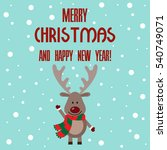 vector illustration of a deer... | Shutterstock .eps vector #540749071