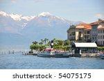 Bellagio town at the famous Italian lake Como - stock photo