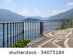 Tremezzo town at the famous Italian lake Como - stock photo