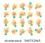 collection of flat hand symbols ... | Shutterstock . vector #540752965