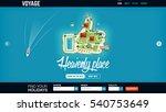 concept website header template ... | Shutterstock .eps vector #540753649