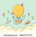 cartoon little people fly in... | Shutterstock .eps vector #540757771