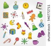 winter doodle vector design.   Shutterstock .eps vector #540772711
