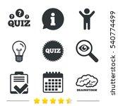 quiz icons. brainstorm or human ... | Shutterstock .eps vector #540774499