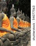 buddha image wat chaiwattanaram ... | Shutterstock . vector #54077563