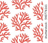 red corals on the white... | Shutterstock .eps vector #540776161