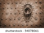 Spain old door knocker - stock photo