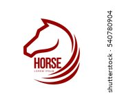Stock vector horse head profile graphic logo template vector illustration on white background stylish horse 540780904