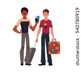 two young men  one with... | Shutterstock .eps vector #540780919