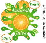 natural juice fresh orange  100 ... | Shutterstock .eps vector #540781279