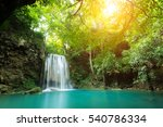 Erawan Waterfall Is A Beautifu...