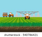 soil and tractor fertilizing... | Shutterstock .eps vector #540786421