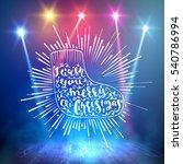 show background. merry... | Shutterstock .eps vector #540786994