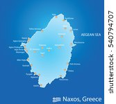 island of naxos in greece map... | Shutterstock .eps vector #540794707
