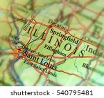 geographic map of us state... | Shutterstock . vector #540795481