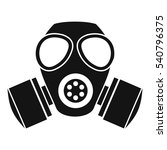 Chemical Gas Mask Icon. Simple...