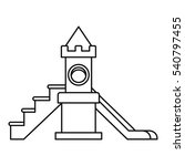childrens slide playground icon.... | Shutterstock .eps vector #540797455