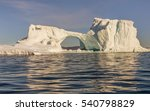 Huge Icebergs Of Different...