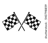 checkered racing flags icon.... | Shutterstock .eps vector #540798859