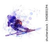 Vector Illustration Of The Skier