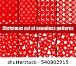 christmas seamless patterns.... | Shutterstock .eps vector #540802915