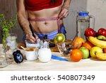 young woman measures. detox....   Shutterstock . vector #540807349