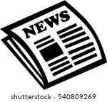 newspaper icon | Shutterstock .eps vector #540809269