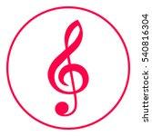 treble clef icon   Shutterstock .eps vector #540816304