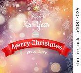 christmas landscape poster. eps ... | Shutterstock .eps vector #540817039