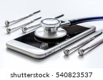 diagnostic of gadgets on white... | Shutterstock . vector #540823537