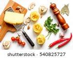 ingredients for cooking paste... | Shutterstock . vector #540825727