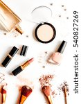 decorative cosmetics nude on... | Shutterstock . vector #540827269