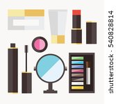 beauty cosmetic icons | Shutterstock .eps vector #540828814
