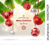 christmas background with a... | Shutterstock .eps vector #540829429