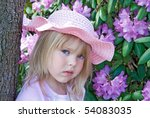 Girl In Pink Hat By...