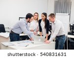 group young coworkers making... | Shutterstock . vector #540831631