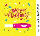 women pregnancy test with merry ... | Shutterstock .eps vector #540832501