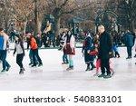boston   dec 21  ice skating... | Shutterstock . vector #540833101