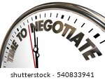 time to negotiate reach... | Shutterstock . vector #540833941
