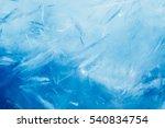 ice background  blue frozen... | Shutterstock . vector #540834754