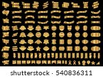 ribbon banner label gold vector ... | Shutterstock .eps vector #540836311
