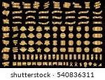 ribbon banner label gold vector ... | Shutterstock .eps vector #540836311